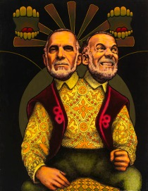 Ed Paschke Two Faces of Robin, 1969, oil on canvas