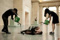 A Liberate Tate guerrilla action at TATE Britain